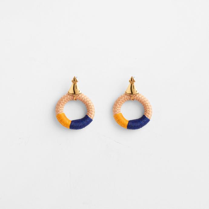 Harvest Moon Temple earrings.