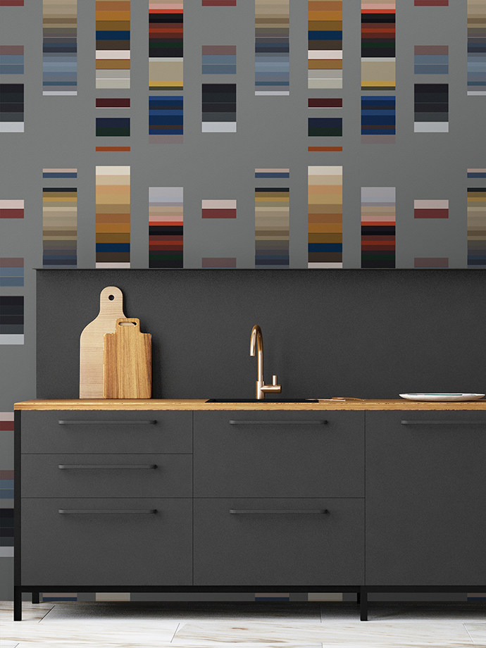 Mockup interior kitchen in loft style. 3d rendering. 3d illustra