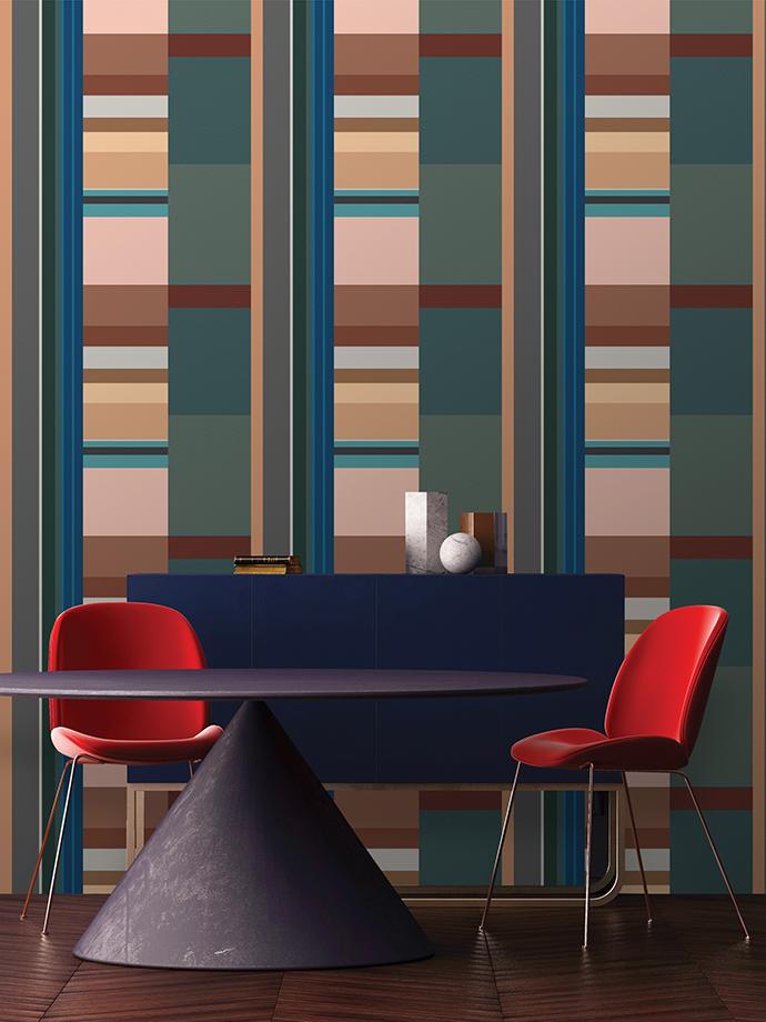 Mockup Poster in art deco style interior. 3d render. 3d illustra