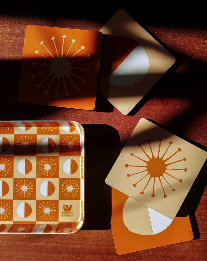 14 Skinny laMinx Solar Tray and Coaster Set