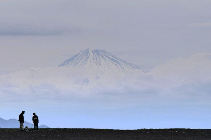 Mount Fuji from Mihonmatsubara Beach