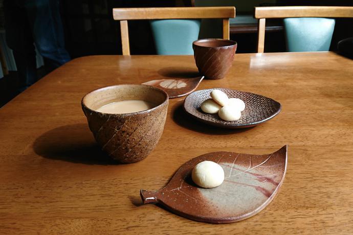 Bizen-ware at our minshuku, Okayama Prefecture